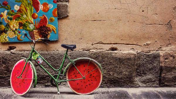 スイカのタイヤが面白い自転車