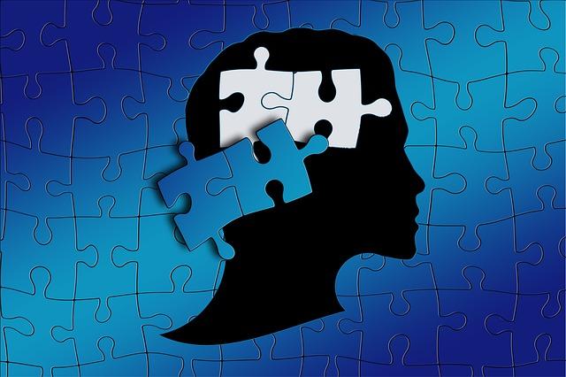 人の顔とパズル