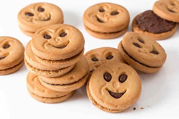意地悪な顔のデザインのクッキー