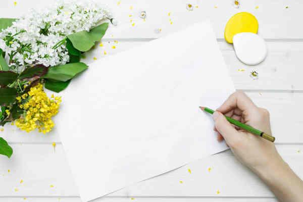 作文を書く前の用紙