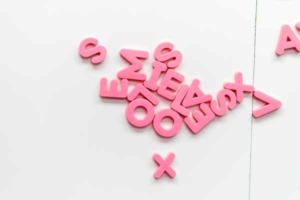 バラバラのアルファベット