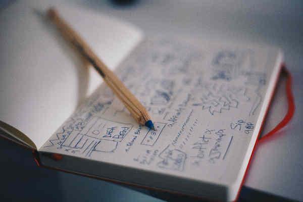 ノートに書かれた計画