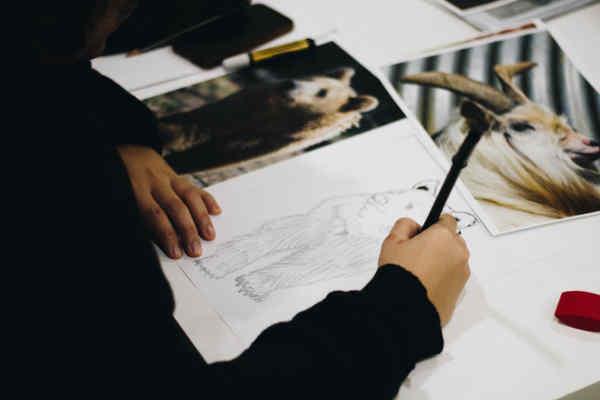 クマのイラストを描く人